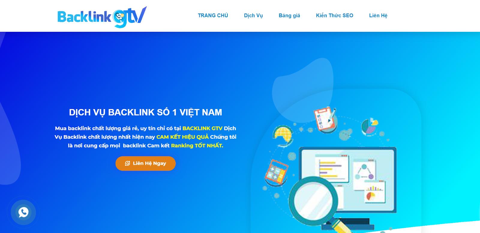 BacklinkGTV - Dịch Vụ Backlink Chất Lượng Hỗ Trợ SEO Bền Vững