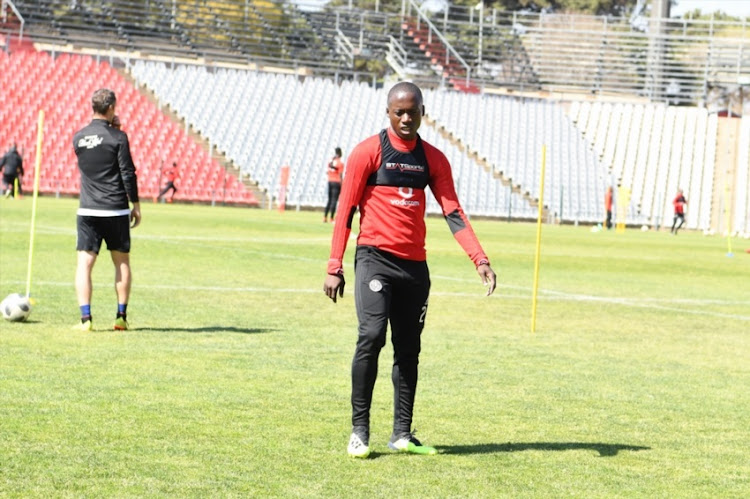 Ben Motshwari of Orlando Pirates during the Orlando Pirates media open day at Rand Stadium on August 01, 2018 in Johannesburg, South Africa.