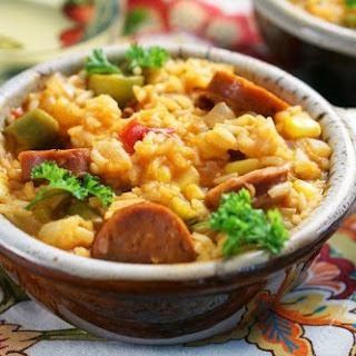 One Pot Andouille Sausage Jambalaya