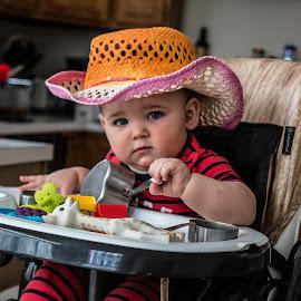I am a cowboy baby by Elaine W. Hill - Babies & Children Children Candids (  )