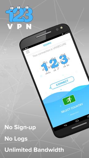 Unlimited FREE VPN - 123VPN 2.7.0 screenshots 1