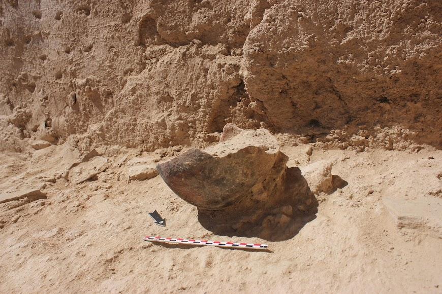 Olla cristiana encontrada en las excavaciones