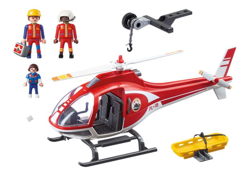 Contenido real de Playmobil® 9127 Helicóptero de Rescate de Montaña