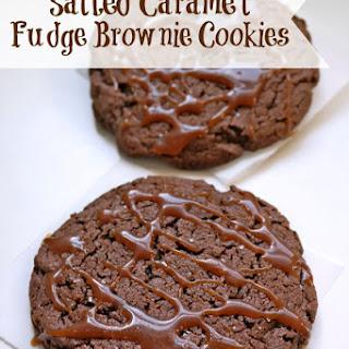 Salted Caramel Fudge Brownie Cookies.