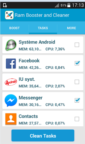 android Ram Booster and Cleaner Xpro1 Screenshot 4