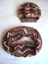 Photo: вязаный женский комплект из секционной пряжи