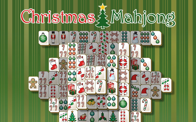 mahjong christmas tiles