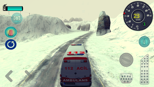 Drive Ambulance on Snow