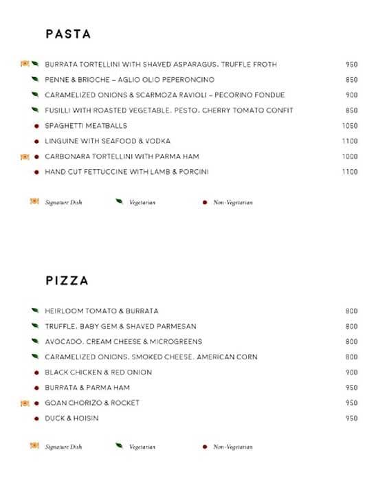 Luna Nudo menu 5