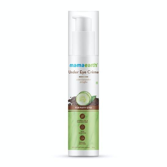 Mamaearth Under Eye Crème with Cucumber & Caffeine for Dark Circles - 50ml