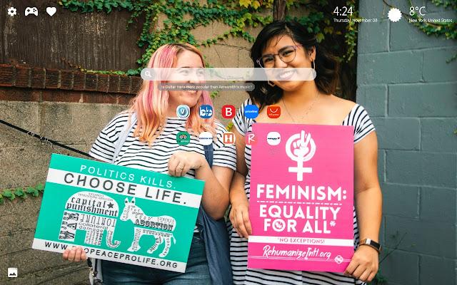 Women's March Wallpaper New Tab