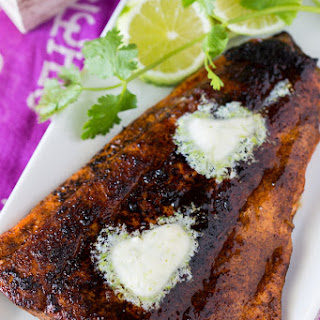 Chile Baked Salmon with Lime Butter.