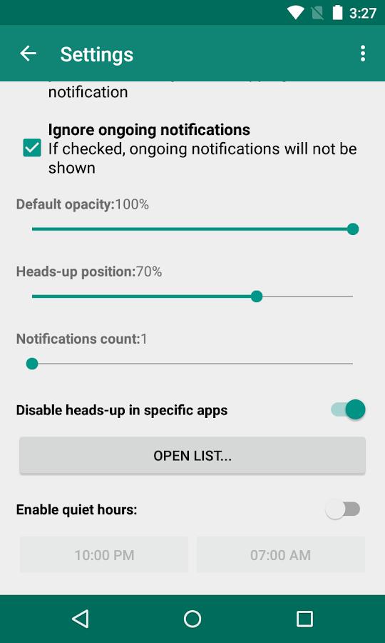 Heads Up! - notifications - screenshot