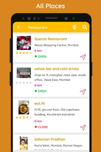 Restaurants & Cafe: Near Me screenshot 2