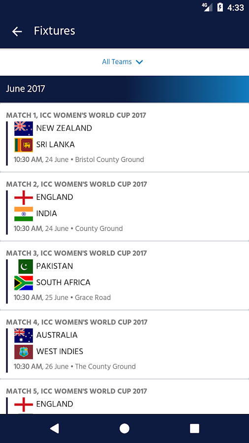 ICC Cricket - Women's World Cup 2017- screenshot