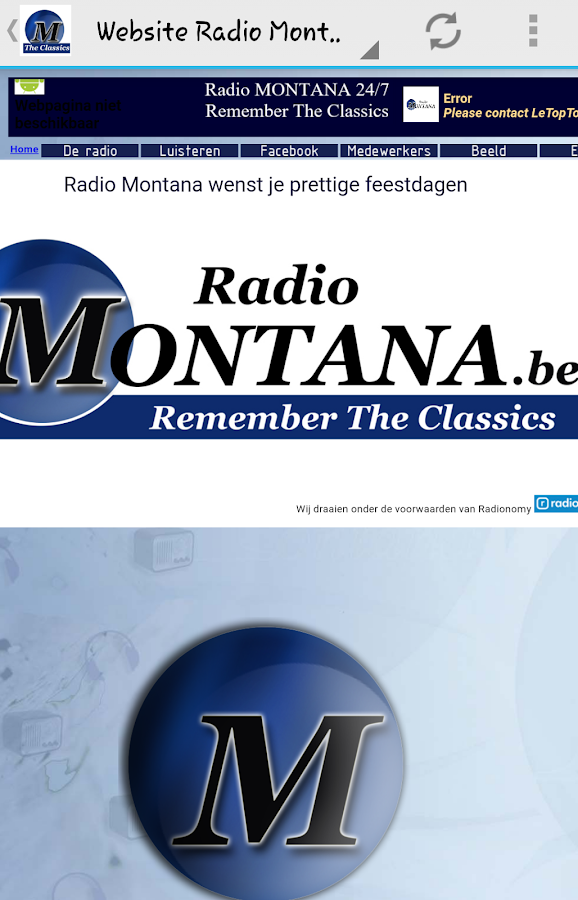 Radio Montana (België)- screenshot