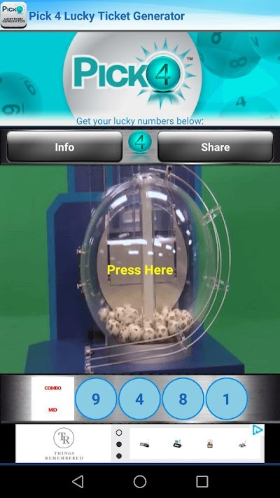 Pick 4 Lucky Ticket Generator APK Download - Apkindo co id