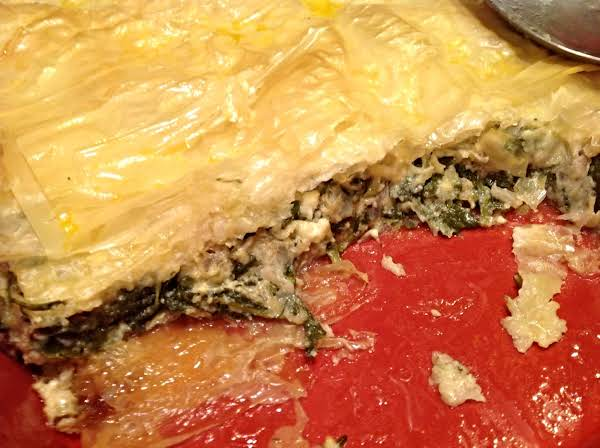 Spinach Pie With Feta Crumbles Recipe