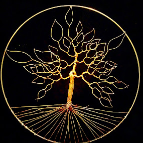 Seasons dawn by Brian Boyer - Artistic Objects Other Objects ( wire, tree, wire tree )