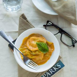 Chicken Tikka Ravioli in a Creamy Tomato Sauce Recipe