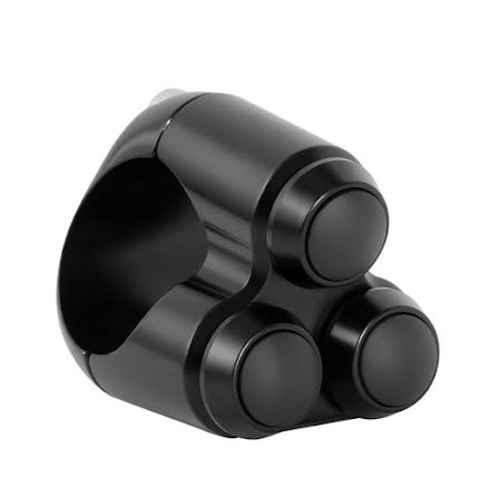 Triple Micro Switch Button Housing - One Inch Handlebar - Black