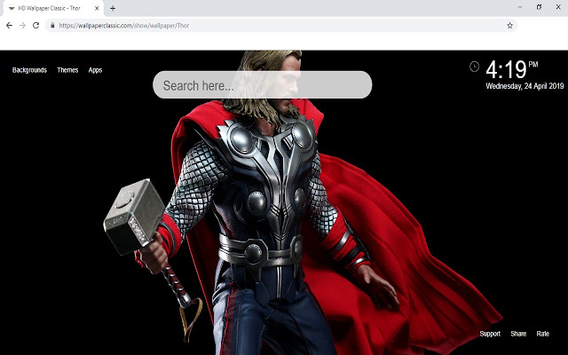 Thor Wallpaper HD New Tab Themes