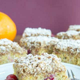 Gluten Free Cranberry Orange Coffee Cake.