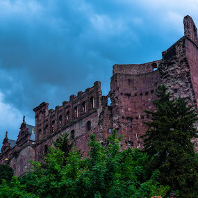Heidelberg Castle 2 by Luke Albright - Buildings & Architecture Public & Historical ( sky, historic, castle, ruins, old, trees, heidelberg )