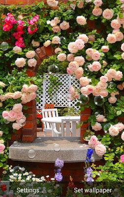 Roses Garden Wallpaper - screenshot