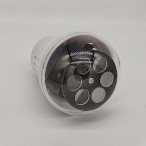 Bec LED RGB rotativ cu proiectii de Craciun