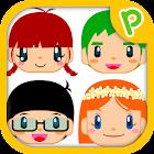 「どこかな?」幼児子供向け知育脳トレ顔あて無料アプリゲーム icon