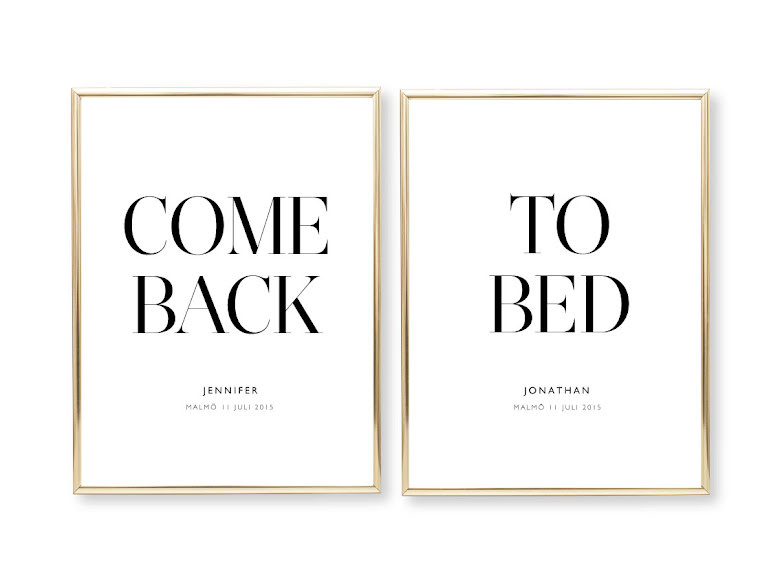 COME BACK TO BED  - PARPOSTERS 2 ST