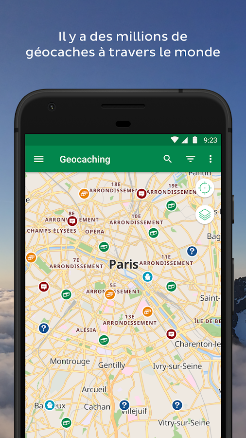 Geocaching® – Capture d'écran