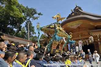 Photo: 【平成27年(2015) 本宮】 新しくなった社殿・境内で神輿もみ