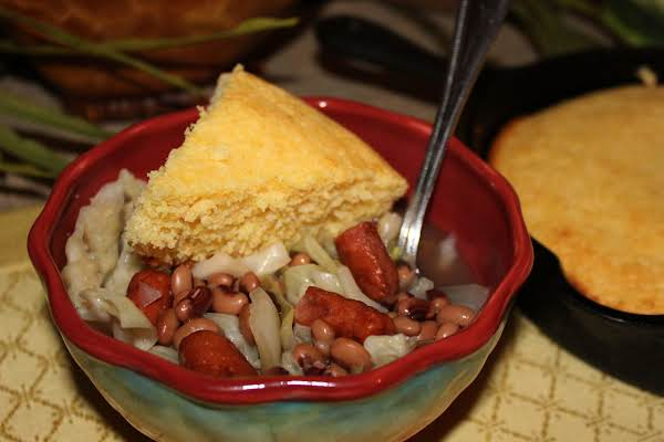 Black-eyed Peas And Little Smokies With Cabbage