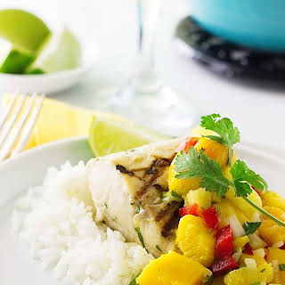 Grilled Mahi-Mahi with Mango Salsa.