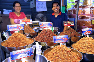 Photo: vendor of dried seafood products, Hua Hin market