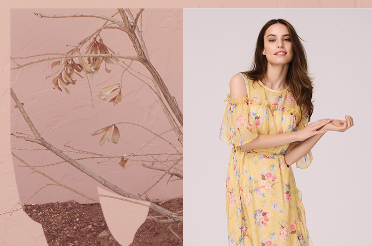 From sweet pastel shades to floral clothing, shop our new spring collection now