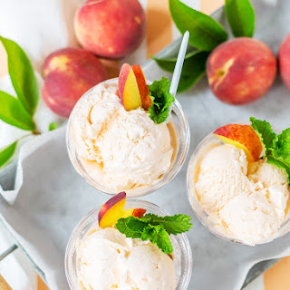 Boozy Peach Ice Cream Recipe