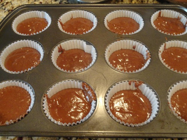 Fill the cupcake liners 1/2 full and bake at 350 for 18-21 minutes until...