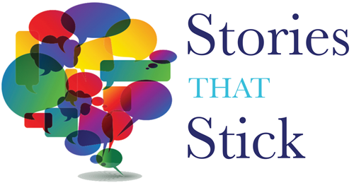 Storytelling Book Stories That Stick Logo