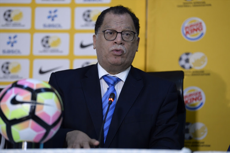 Safa president Danny Jordaan at Safa House on July 26, 2018 in Johannesburg, South Africa.
