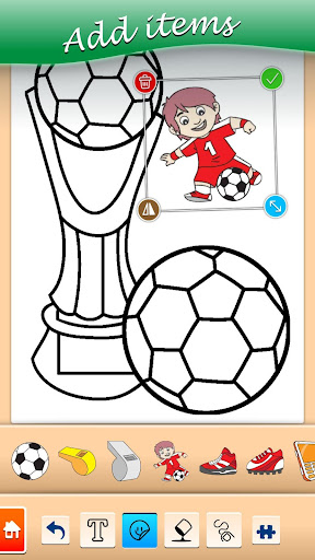Football coloring book game apkpoly screenshots 2