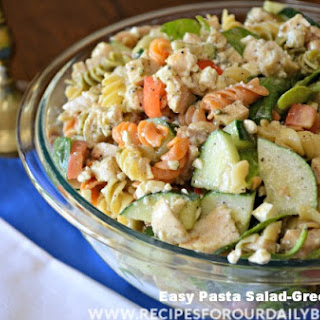 Easy Pasta Salad-Greek Chicken