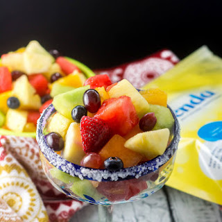 Fresh Fruit Salad with a Virgin Margarita Dressing