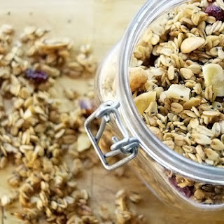 Chia Granola with Almonds and Dried Fruit