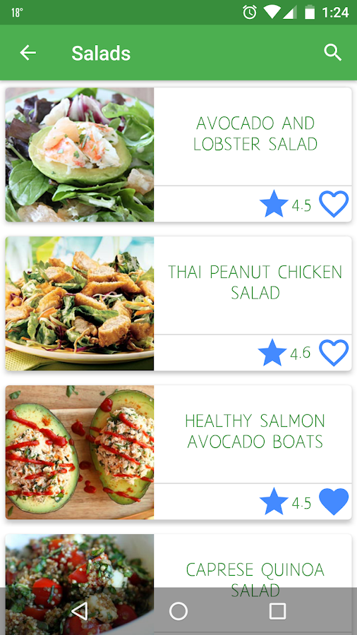 Healthy Recipes for Fitness- screenshot