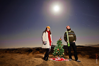 """Photo: Christmas Carols/Songs  Abt the picture So awesome they brought their little Christmas Tree to the sand dunes for some pictures. Glad I was able to get a picture that showed off them and their tree. I shot 7 groups (or individuals) last night all after twilight at the sand dunes. We were outside in 20 degree weather for about 4hrs... yep I had ice in my beard. It's not easy shooting late night let alone when it's that cold. But everyone was a trooper and we had a lot of fun. We shot some really long shutterspeed pictures and this one is not one of them it's a mere 8 seconds.  Now I know the song that comes to mind is O Christmas Tree  But I'm going to share one of my favorite Christmas Song/hymns instead. And invite you to share the one that has the most meaning to you (that is if you celebrate Christmas.)  I heard the bells on Christmas day   1. I heard the bells on Christmas day Their old familiar carols play, And wild and sweet the words repeat Of peace on earth, good will to men.  2. I thought how, as the day had come, The belfries of all Christendom Had rolled along th'unbroken song Of peace on earth, good will to men.  3. And in despair I bowed my head: """"There is no peace on earth,"""" I said, """"For hate is strong and mocks the song Of peace on earth, good will to men.""""  4. Then pealed the bells more loud and deep: """"God is not dead, nor doth he sleep; The wrong shall fail, the right prevail, With peace on earth, good will to men.""""  5. Till, ringing, singing, on its way, The world revolved from night to day, A voice, a chime, a chant sublime, Of peace on earth, good will to men!  Now it's time for me to tune out GooglePlus and write a talk for church which will be on """"Teachings of Jesus"""""""