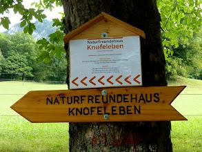 Photo: So ist's jetzt richtig! (in Kurzfassung: Knofeleben Hütte)