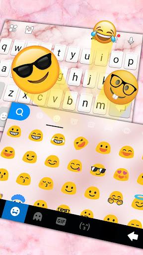 os11 pink marble keyboard theme screenshot 3